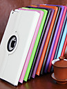Case For Apple iPad Mini 4 iPad Mini 3/2/1 iPad 4/3/2 iPad Air 2 iPad Air with Stand 360° Rotation Full Body Cases Solid Color Hard PU