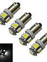 BA9S Decoration Light 5 SMD 5050 70-100lm Cold White 6000-6500K DC 12V