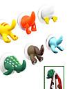Cartoon Tier Schwanz Design Plastikhaken (gelegentliche Farbe)