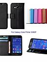 Capinha Para Samsung Galaxy Samsung Galaxy Capinhas Carteira / Porta-Cartao / Com Suporte Capa Protecao Completa Solido PU Leather para Core Prime