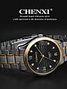 CHENXI® 남성용 손목 시계 석영 스테인레스 스틸 밴드 아날로그 참 실버 - 골드 화이트 블랙