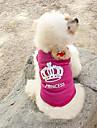 고양이 강아지 티셔츠 강아지 의류 패션 티아라 & 왕관 로즈 코스츔 애완 동물