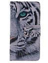 Para Samsung Galaxy Capinhas Carteira / Porta-Cartao / Com Suporte / Flip Capinha Corpo Inteiro Capinha Animal Couro PU Samsung S4 Mini