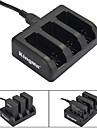 Kingma 3-slot chargeur de batterie pour AHDBT-201 / AHDBT-301 / AHDBT-401 / Heros gopro 3 / 3+ / 4 - noir