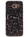 Для Кейс для  Samsung Galaxy С узором Кейс для Задняя крышка Кейс для Слова / выражения TPU Samsung S6