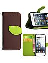 아이폰 5C 고품질의 지갑 카드 홀더 PU 가죽 플립 케이스 커버 (모듬 색상)