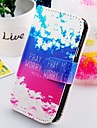 For Samsung Galaxy Case Case Cover Wallet Card Holder with Stand Flip Full Body Case Scenery PU Leather for Samsung S2