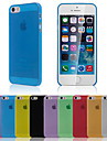 Luxury Ultra Thin Translucent Back Cover for iPhone 5/5S(Assorted Color)