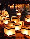 Квадратный желая фонарь плавающие водяные фонари лампа свет со свечной квадратной бумагой желая плавающей воды река