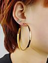 Серьги-кольца Сплав Заявление ювелирные изделия Мода Цвет экрана Бижутерия 2 шт.
