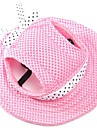 Cat Dog Bandanas & Hats Dog Clothes Holiday Fashion Solid Ruby Blue Blushing Pink Stripe White/Pink