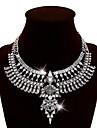Femme Colliers Declaration Strass Alliage Bijoux Fantaisie bijoux de fantaisie Bijoux Pour Soiree