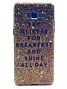 caso duro brilho de ouro padrão de PC para samsung galaxy grande nobre G530 g530h