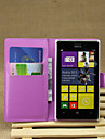 Case For Nokia Lumia 925 Nokia Nokia Case Card Holder Wallet with Stand Full Body Cases Solid Color Hard PU Leather for