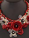 Жен. Заявление ожерелья  -  Мода Красный Зеленый Радужный Ожерелье Назначение Свадьба Для вечеринок Повседневные
