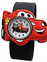 Children's Fashion Watch Casual Watch Quartz Casual Watch Silicone Band Charm Black Blue Red Orange Green Yellow