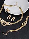 Pentru femei Zirconiu Cubic Set bijuterii - Zirconiu Cubic Declarație, Vintage, Petrecere Include Cercei Brățară Auriu Pentru Nuntă Petrecere Ocazie specială / Inele / Σκουλαρίκια / Coliere
