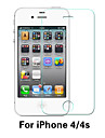 Beittal® 0.26mm Rounded Edge Transparent 9H Toughened Glass Membrane Screen Protector for iPhone 4/4S