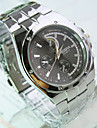 Men's Dress Watch Quartz Casual Watch Stainless Steel Band Charm Silver
