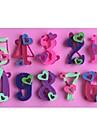 число сердечных 0-9 в форме помады торт шоколадный силиконовые формы плесень, отделочные инструменты посуда