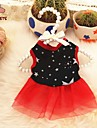 Cat Dog Dress Red Black Dog Clothes Summer Spring/Fall Stars Casual/Daily