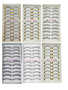 60Pairs Natural Long Thick Black False Eyelash Eyelashes Extensions Handmade Individual Lashes Makeup Eyelashes