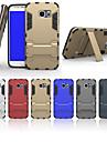 especial pc projeto silicone tampa traseira casos com suporte para Samsung Galaxy S5 / S6 / S6 bordo (cores sortidas)