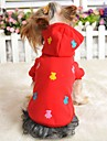 Cat Dog Hoodie Dog Clothes Cute Casual/Daily Cartoon Gray Yellow Red Blue Costume For Pets