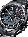 Men's Digital Japanese Quartz Military Watch Alarm Calendar / date / day Noctilucent Stainless Steel Band Charm Luxury Black