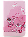 Pour Samsung Galaxy Coque Porte Carte / Avec Support / Clapet / Motif Coque Coque Intégrale Coque Dessin Animé Cuir PU SamsungTab 4 10.1