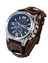 Men\'s Quartz Wrist Watch Casual Watch Leather Band Luxury Black / White / Brown