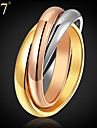 Women\'s Ring Rainbow Stainless Steel Gold Plated Other Steel Rose Gold Plated Vintage Party Work Casual Fashion Daily Costume Jewelry