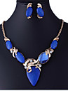 Women\'s Jewelry Set Luxury Vintage Party Work Fashion European Party Special Occasion Anniversary Birthday Gift Synthetic Gemstones Cubic