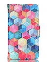For Samsung Galaxy Case Card Holder / Wallet / with Stand / Flip Case Full Body Case Geometric Pattern PU Leather SamsungS6 edge plus /