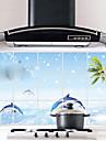75x45cm  Pattern Oil-Proof Water-Proof Kitchen Wall Sticker