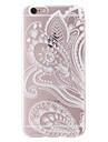 "pintura estilo folk suave TPU transparente Capa para iPhone 6 / 6s 4.7 """