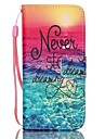 For iPhone 8 iPhone 8 Plus iPhone 5 Case Case Cover Wallet Card Holder with Stand Flip Pattern Full Body Case Word / Phrase Hard PU