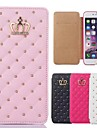 iPhone 7 Plus Queen's Crown Grid Pattern PU Leather Cover for iPhone 5/5S