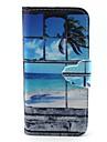 Для Кейс для iPhone 5 Кошелек / со стендом / Флип Кейс для Чехол Кейс для Пейзаж Твердый Искусственная кожа iPhone SE/5s/5