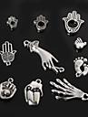 beadia de metal mao&pes&pingentes charme boca antique prata banhado joias acessorios DIY