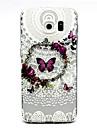 Para Samsung Galaxy Capinhas Case Tampa Transparente Capa Traseira Capinha Borboleta PUT para Samsung Galaxy S6 edge plus S6 edge S6 S5
