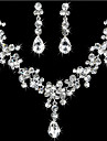 Women\'s Jewelry Set - Rhinestone Ladies Include For Wedding Party Birthday Engagement Gift Masquerade / Earrings / Necklace