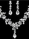 Mulheres Strass Conjunto de joias Brincos / Colares - Para Casamento / Festa / Aniversario