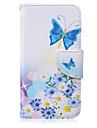 Pour Samsung Galaxy Coque Portefeuille Porte Carte Avec Support Clapet Coque Coque Integrale Coque Papillon Cuir PU pour SamsungS6 edge