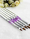 1pcs Silver UV Gel Acrylic Nail Art Decorations Brushes Painting Pen Tips Manicure Tool