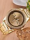 Жен. Модные часы Кварцевый Имитация Алмазный сплав Группа Серебристый металл Золотистый Розовое золото