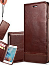For iPhone 7 Plus Multicolor High-end Splice Lanyard Genuine Leather Phone Case for iPhone 6 Plus/6S Plus