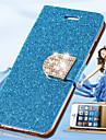 Для Кейс для iPhone 6 / Кейс для iPhone 6 Plus Бумажник для карт / Стразы / со стендом / Флип Кейс для Чехол Кейс для Сияние и блеск