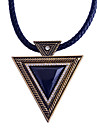 Women\'s Triangle Geometric Punk Pendant Necklace Synthetic Sapphire Black Gemstone Synthetic Gemstones Resin Alloy Pendant Necklace ,