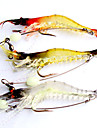 3 pcs Soft Bait Fishing Lures Craws / Shrimp Soft Bait Soft Plastic Luminous Lure Fishing